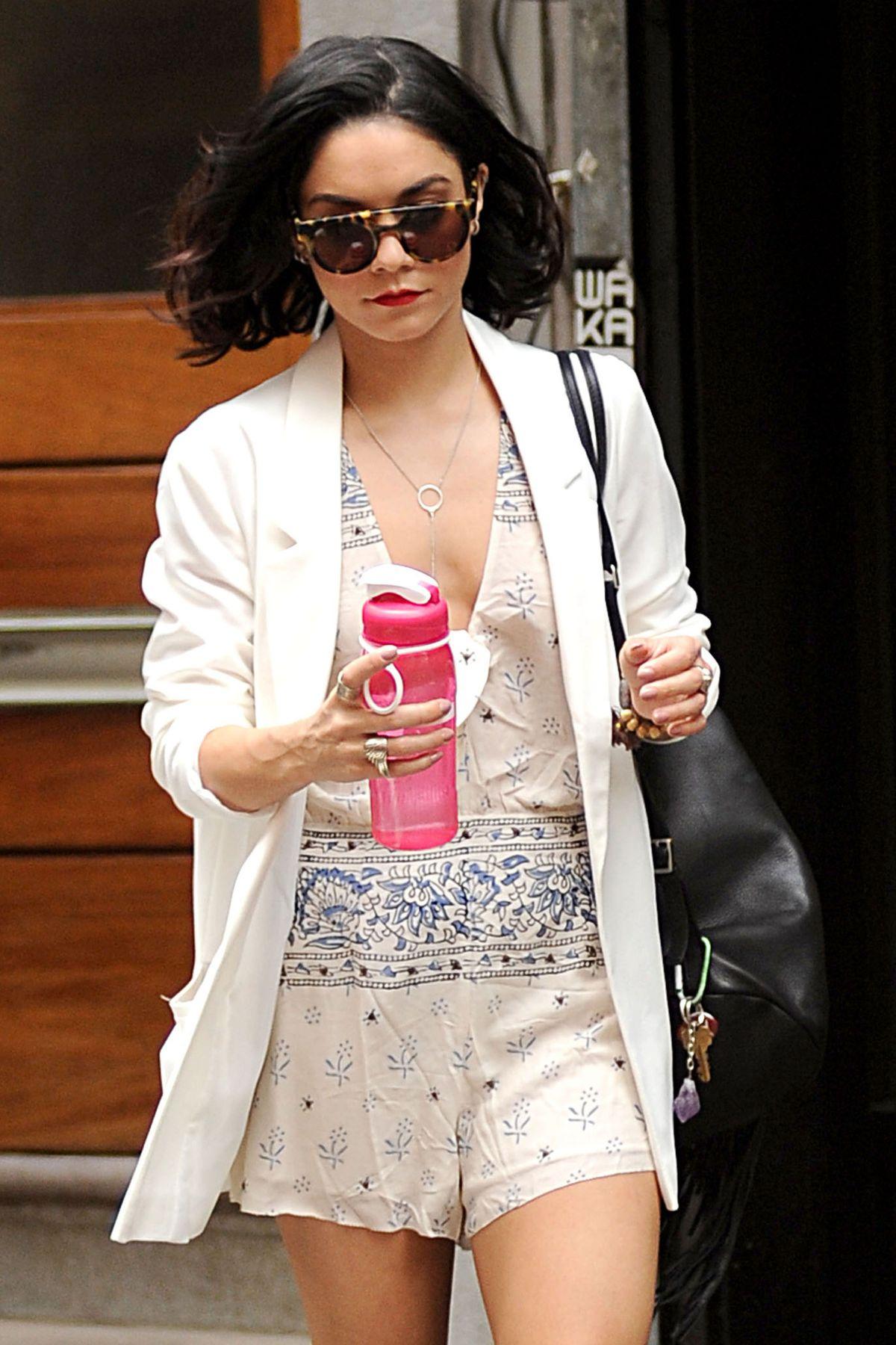 VANESSA HUDGENS Leaves Her Apartment in New York 05/27/2015