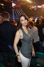 WHITNEY CUMMINGS at Mayweather vs Pacquiao Boxing Match in Las Vegas