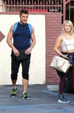 WITNEY CARSON in Tank Top at DWTS Rehearsal Studio in Hollywood 04/30/2015