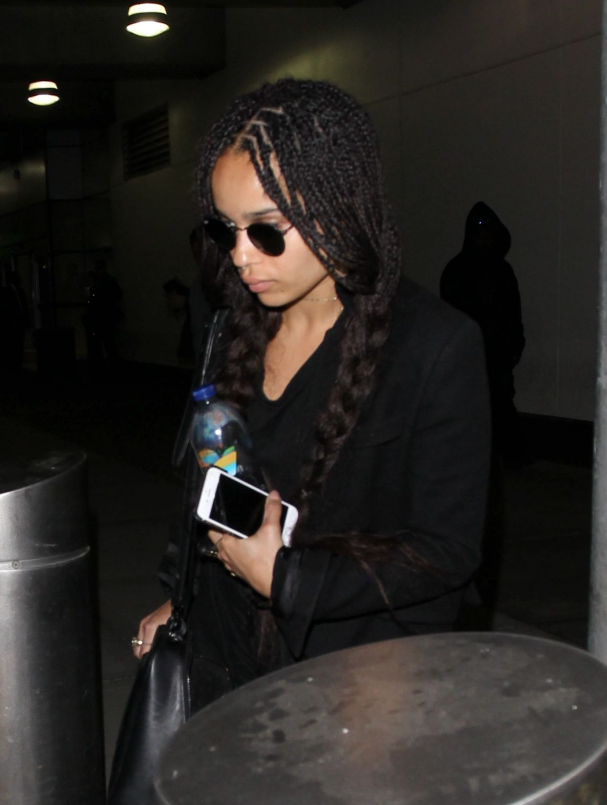 ZOE KRAVITZ at JFK Airport in New York 05/03/2015