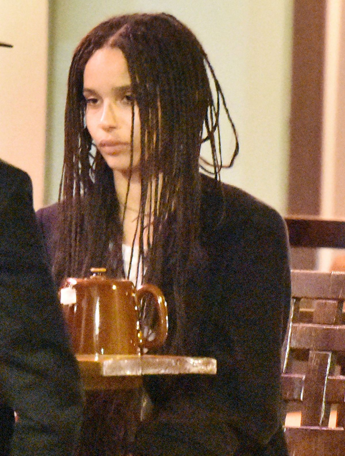 ZOE KRAVITZ Night Out in Cannes