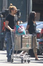 ZOE SALDANA and Marco Perego Shoppig at Whole Foods in Los Angeles 05/02/2015