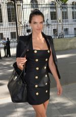 ALESSANDRA AMBROSIO at Balmain Fashion Show in Paris