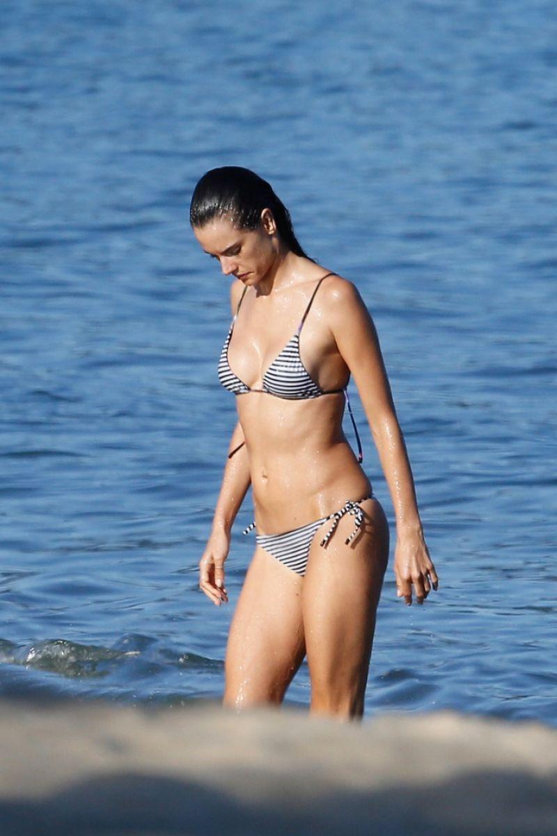 ALESSANDRA AMBROSIO in Bikini at a Beach in Rio De Janeiro 06/18/2015