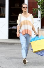 ALESSANDRA AMBROSIO Leaves Brentwood Country Mart in Brentwood 06/11/2015