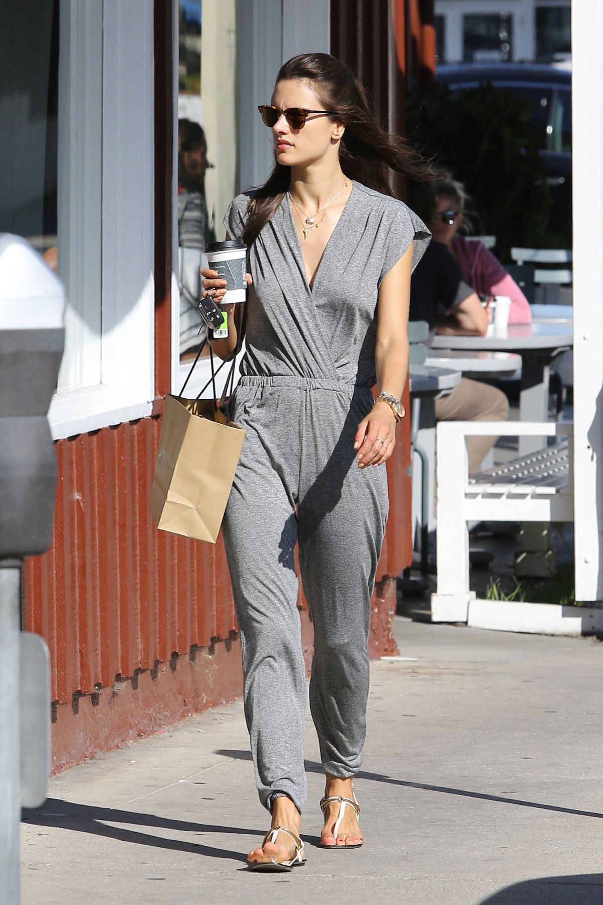 ALESSANDRA AMBROSIO Out and About in Brentwood 06/06/2015