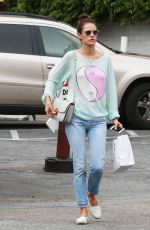ALESSANDRA AMBROSIO Out and About in Brentwood 06/10/2015