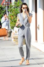 ALESSANDRA AMBROSIO Out in Brentwood 06/07/2015
