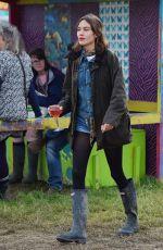ALEXA CHUNG at Glastonbury Festival in Glastonbury, Day 3