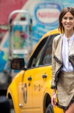 ALEXA CHUNG on the Set of a Photoshoot in New York 06/04/2015