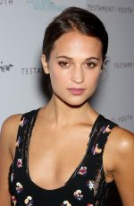 ALICIA VIKANDER at Testament of Youth Premiere in New York