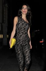 AMAL CLOONEY Night Out in London 06/23/2015
