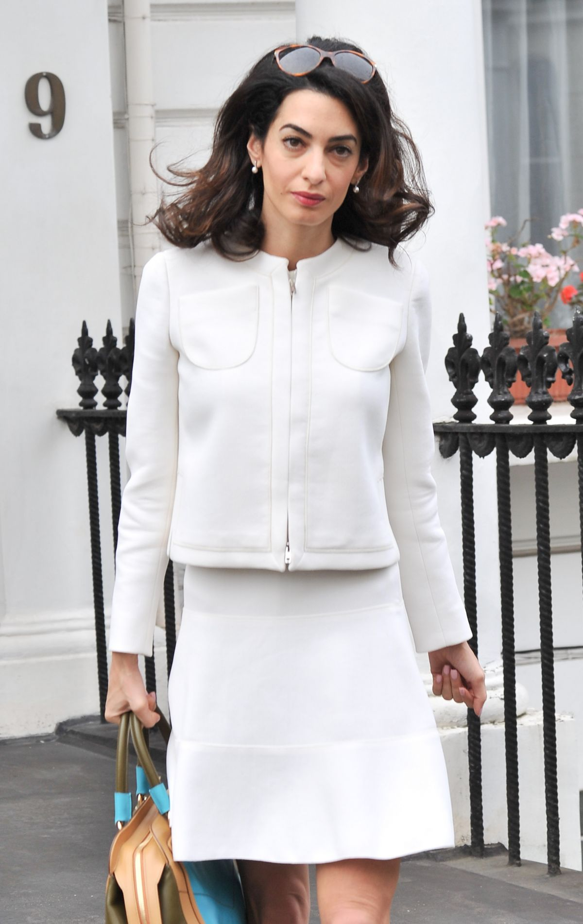 AMAL CLOONEY Out and About in London 06/24/2015