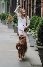 AMANDA SEYFRIED and Finn Out and About in New York 06/15/2015