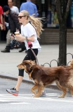 AMANDA SEYFRIED and Finn Out and About in New York 06/26/2015