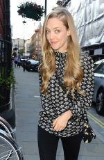 AMANDA SEYFRIED Arrives at Chiltern Firehouse in London 06/11/2015