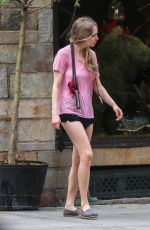 AMANDA SEYFRIED in Shorts Out and About in New York 06/21/2015