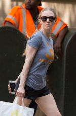 AMANDA SEYFRIED Walks Her Dog in New York 06/08/2015