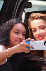 AMBER HEARD Leaves Her Hotel in New York 06/22/2015