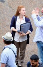 AMY ADAMS on the Set of Story of Your Life in Montreal 06/09/2015