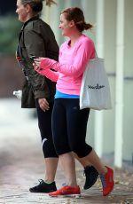 AMY POEHLER Leavs Yoga Class in Sydney 06/14/2015