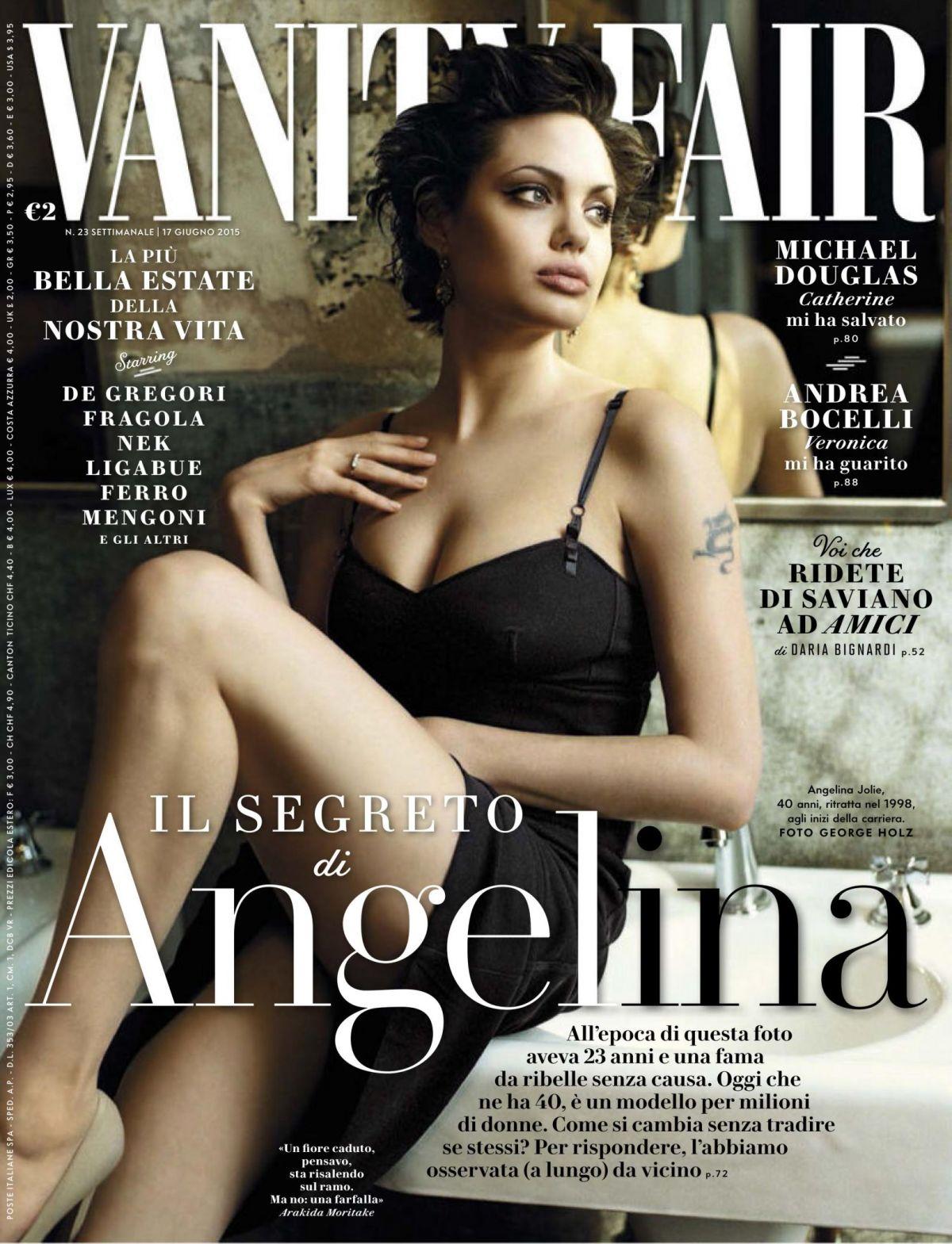 Jolie Magazine November 2017 Issue: ANGELINA JOLIE In Vanity Fair Magazine, Italy June 2015