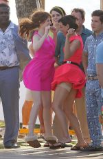 ANNA KENDRICK and AUBREY PLAZA on the Set of Mike and Dave Need Wedding Dates 06/01/2015