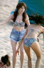 ANNA KENDRICK and AUBREY PLAZA on the Set of Mike and Dave Need Wedding Dates 06/15/2015