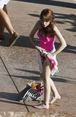 ANNA KENDRICK in Swimsuit on the Set of Mike and Dave Need Wedding Dates in Hawaii 06/11/2015