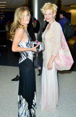 ANNALYNE and ANGEL MCCOR at LAX Airport 06/07/2015