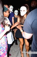 ARIANA GRANDE in a Mask at Her 22nd Birthday Party in New York 06/26/2015