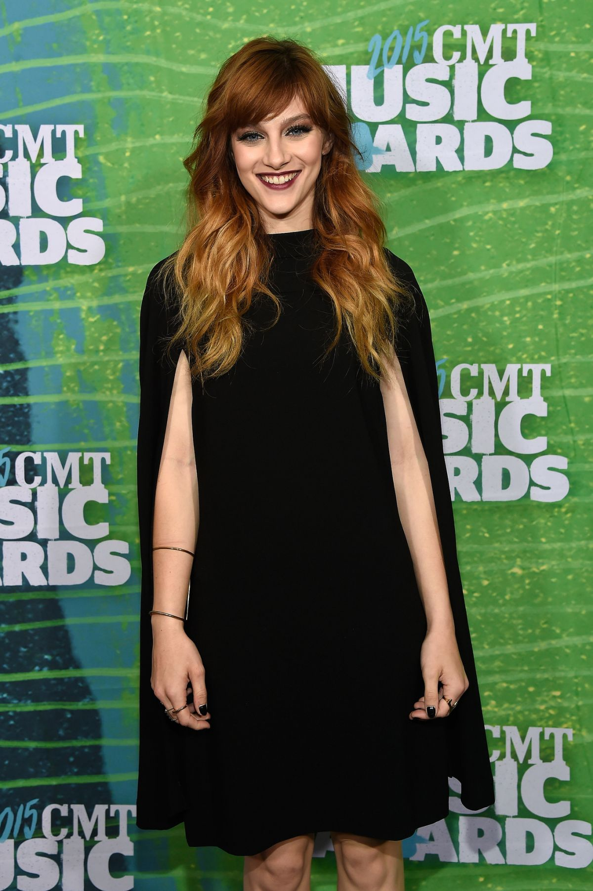 AUBREY PEEPLES at 2015 CMT Music Awards in Nashville