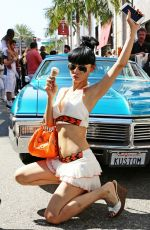 BAI LING at Auto Exhibit in Beverly Hills 06/21/2015