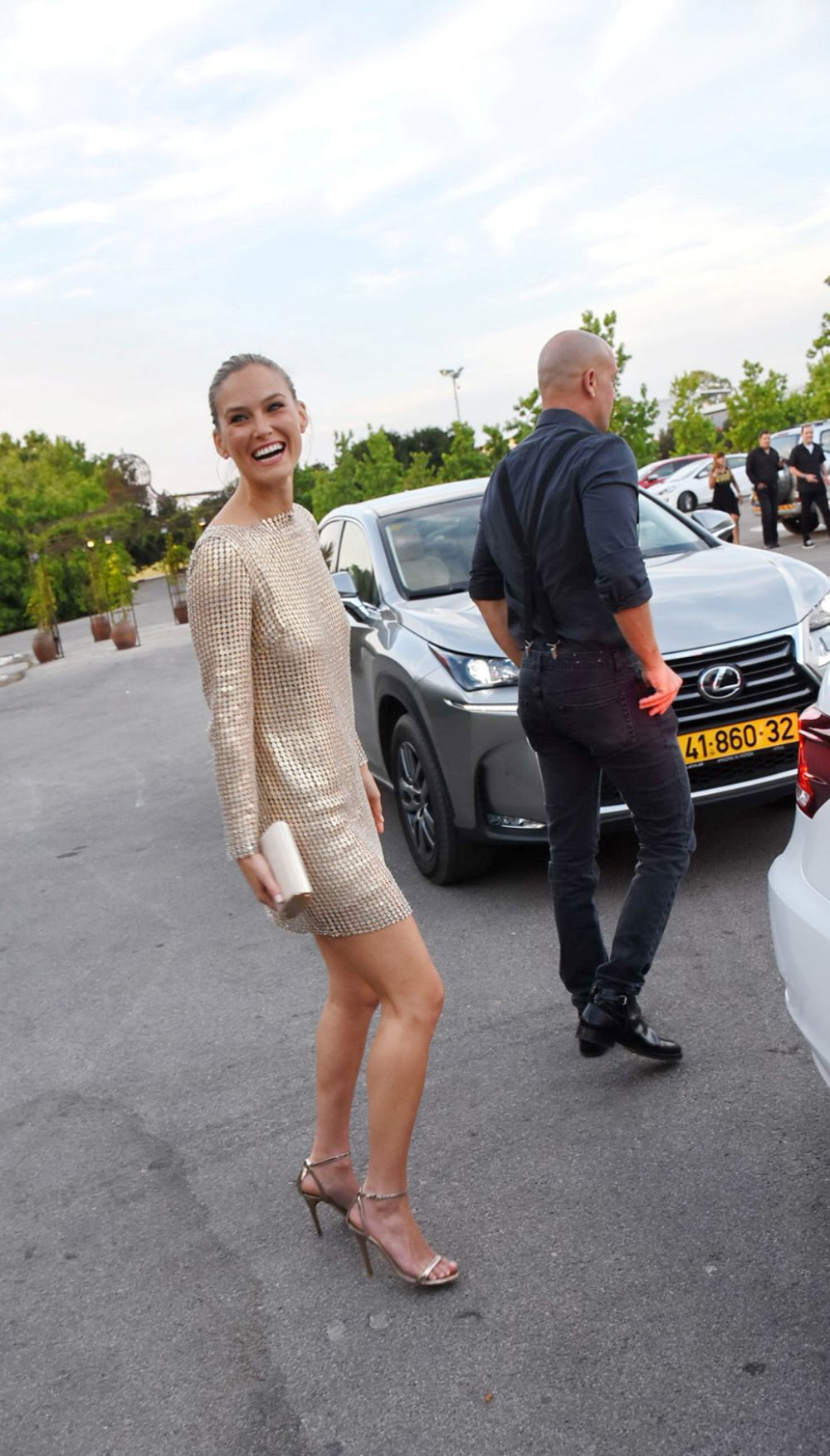 BAR REFAELI Arrives at Her 30th Birthday Party at Ronit Farm