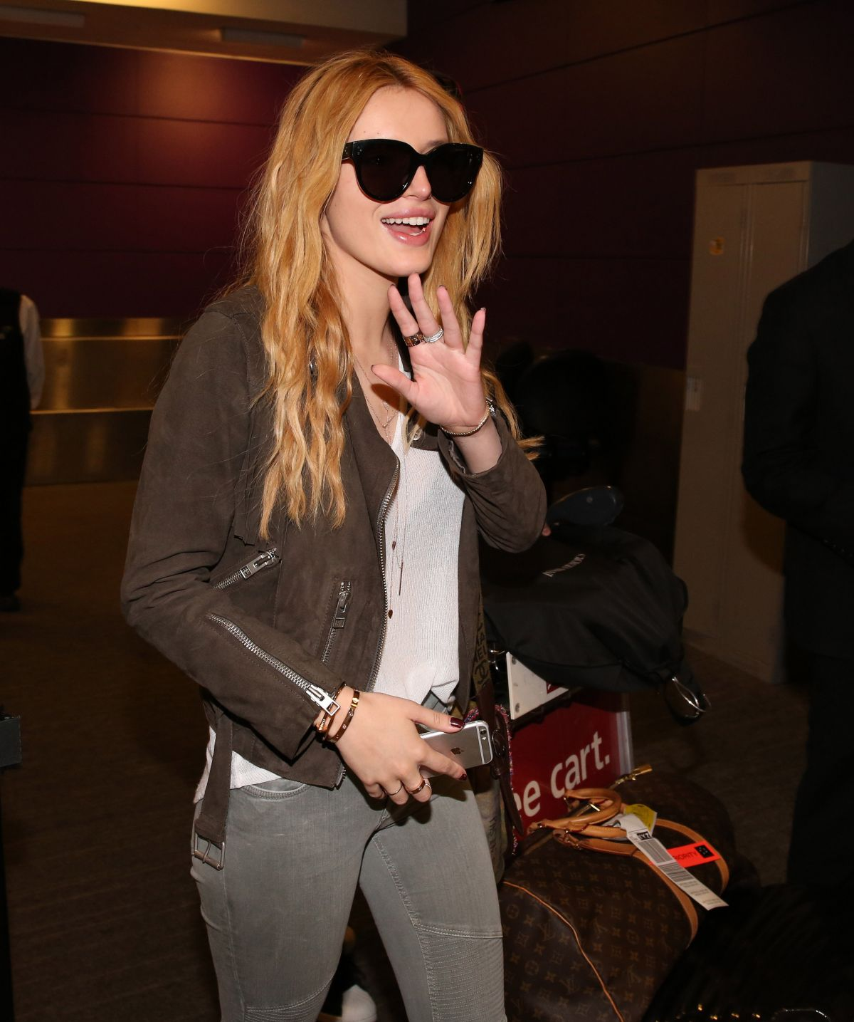 BELLA THORNE at Pearson Airport in Toronto 06/20/2015