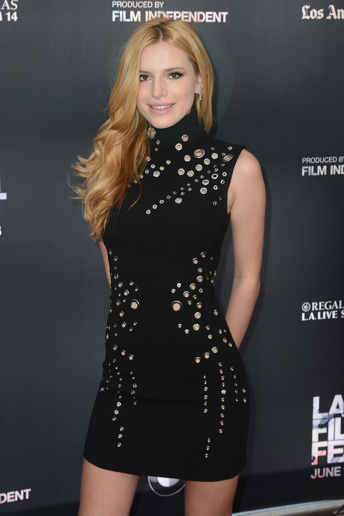 bella thorne at scream premiere at la film festival