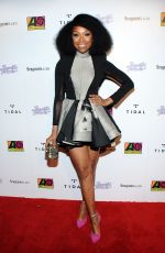 BRANDY NORWOOD at Atlantic Records BET Awards Afterparty in Los Angeles