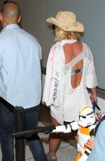 BRITNEY SPEARS Arrives at LAX Airport in Los Angeles 06/18/2015