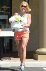 BRITNEY SPEARS in Shorts Out and About in Thousand Oaks 06/17/2015