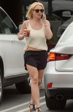 BRITNEY SPEARS in Shorts Out in Thousand Oaks 06/10/2015
