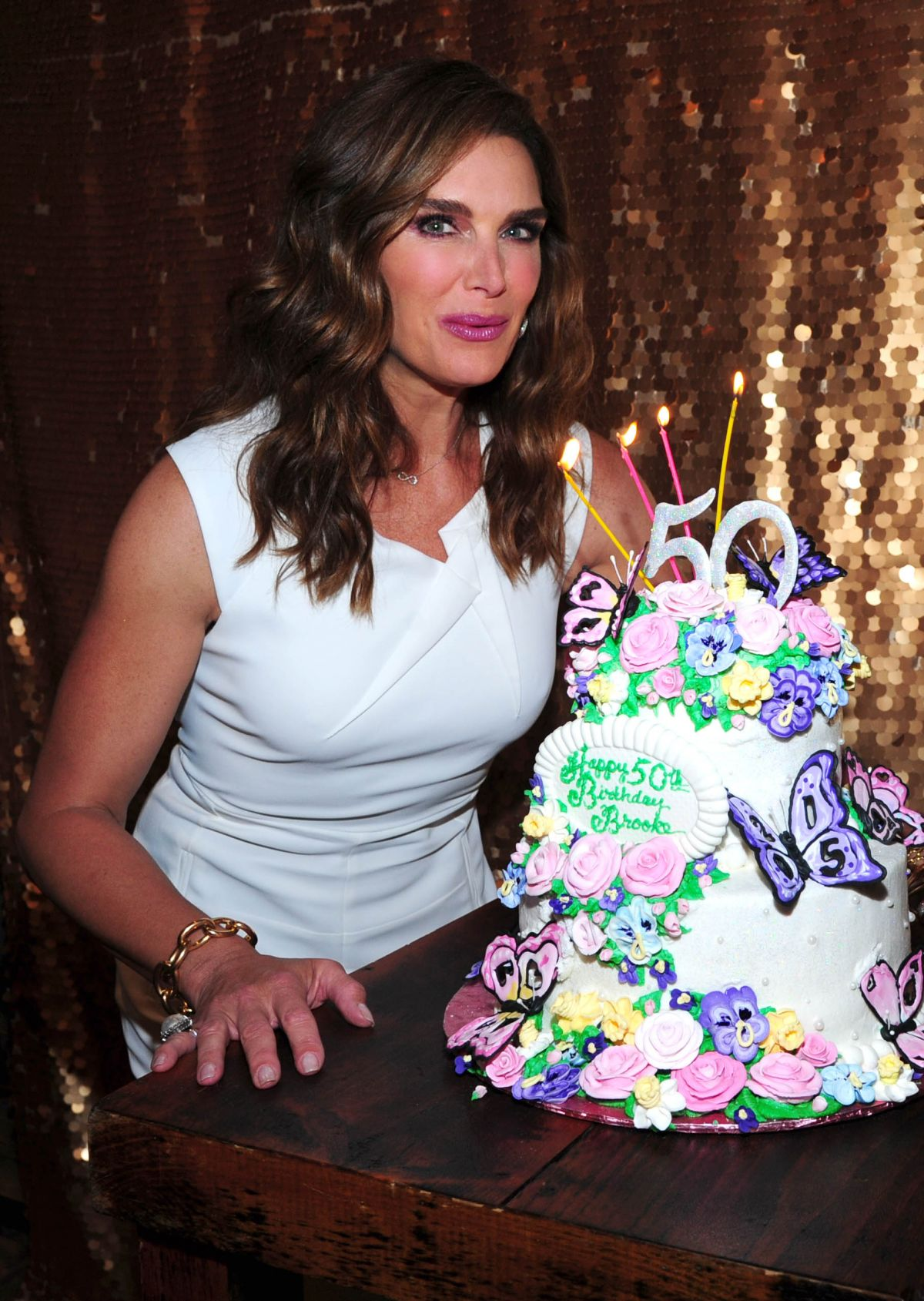 BROOKE SHIELDS Celebrates Her 50th Birthday in New York
