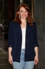 BRYCE DALLAS HOWARD Leaves NBC Studios in New York 06/01/2015