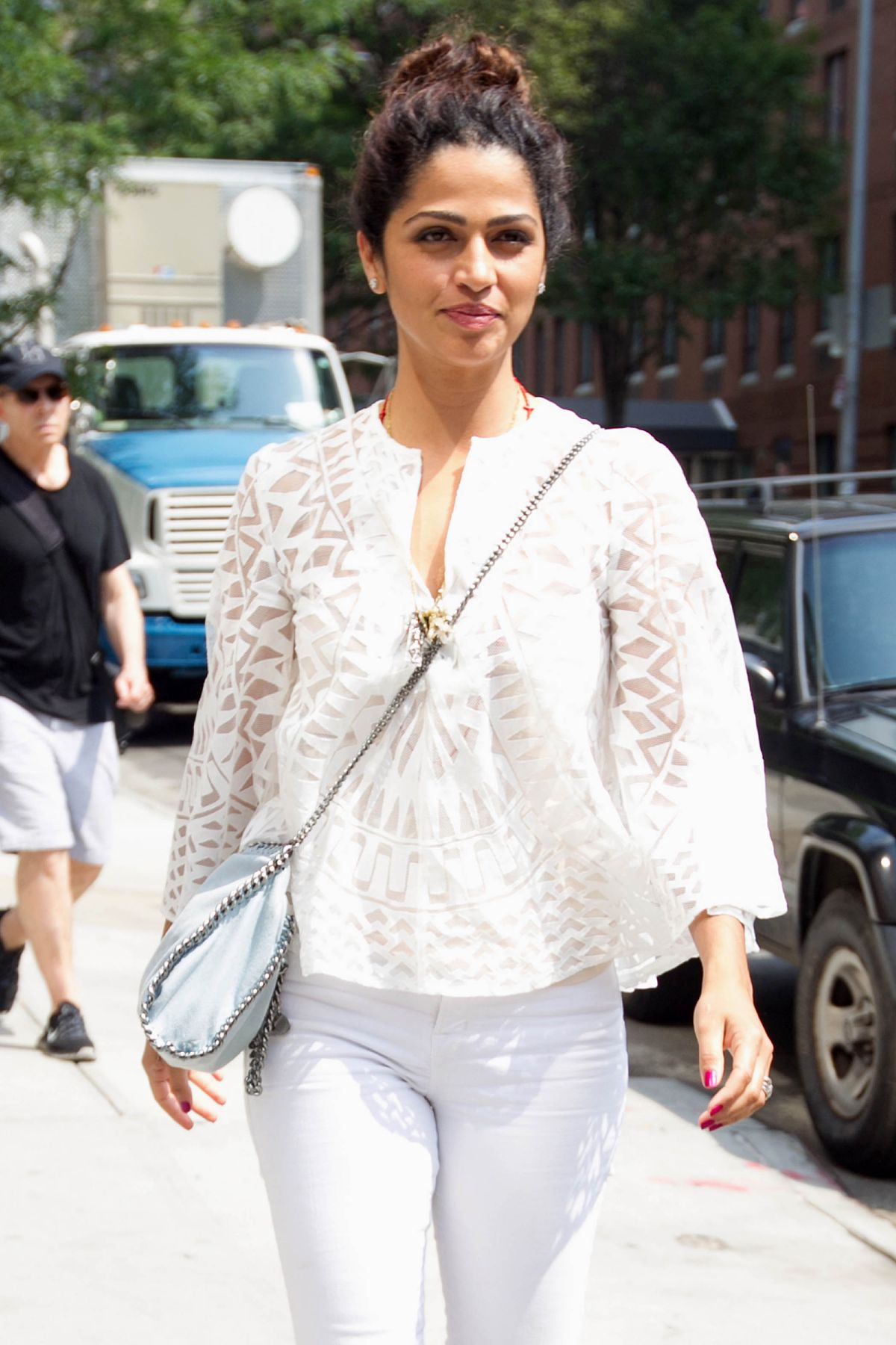 CAMILA ALVES Out and About in New York 06/11/2015