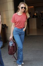 CANDICE SWANEPOEL Leavs The Park Hyatt Hotel in London 06/27/2015