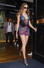 CARA DELEVINGNE Arrives at BBC Radio 1 in London 06/18/2015