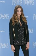 CARA DELEVINGNE at Paper Towns Press Tour in London