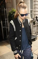 CARA DELEVINGNE Leaves Her Hotel in London 06/29/2015