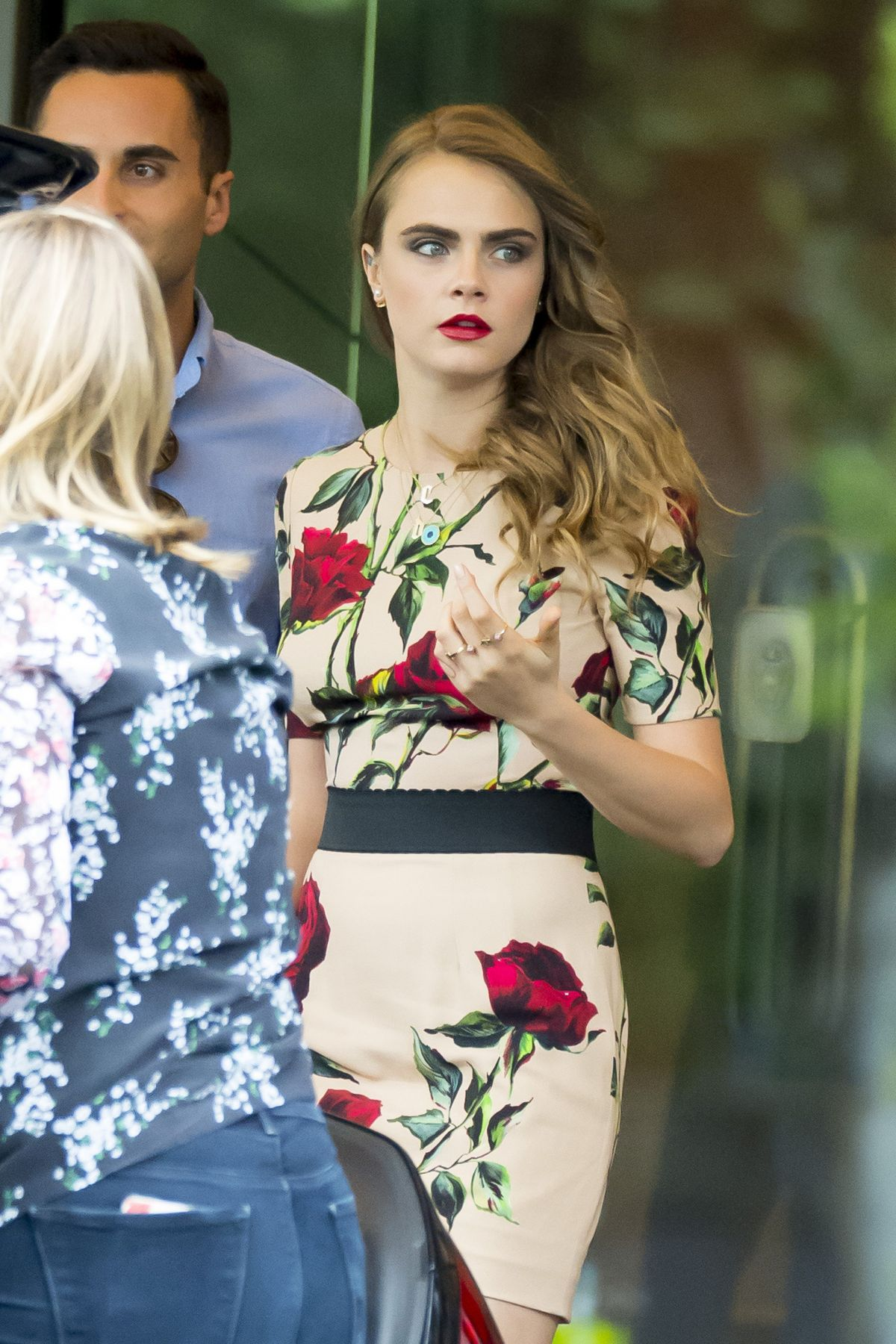 CARA DELEVINGNE Leaves Her Hotel in Madrid06/15/2015