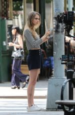 CARA DELEVINGNE on the Set of a Photoshoot in New York 06/12/2015
