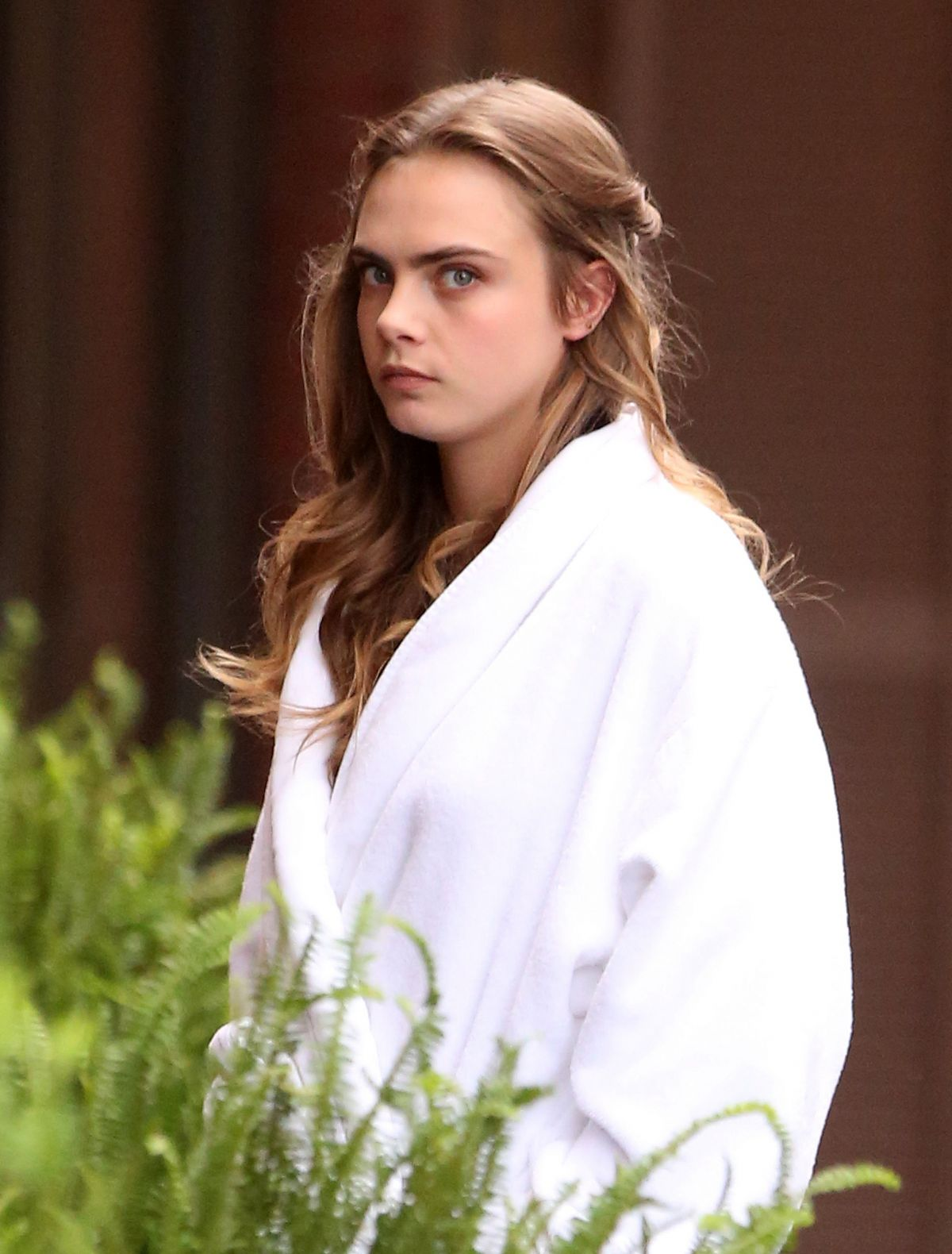 CARA DELEVINGNE on the Set of Suicide Squad in Toronto 05/30/2015